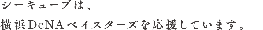 シーキューブは横浜DeNAベイスターズを応援しています。