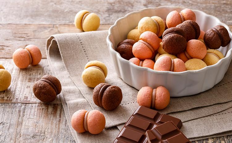 ミルク・いちご・チョコレートの3種の味わい
